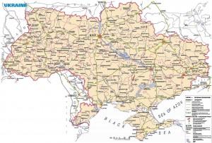Harta rutiera a Ucrainei