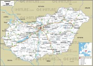 Harta rutiera a Ungariei