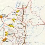 Harta turistica a Muntilor Bretcu (Carpatii Orientali)
