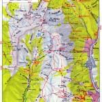 Harta turistica a Muntilor Bucegi 2