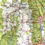 Harta turistica a Muntilor Bucegi 3