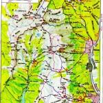 Harta turistica a Muntilor Bucegi 4
