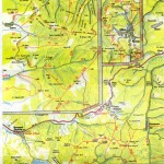 Harta turistica a Muntilor Calimani 1