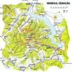 Harta turistica a muntilor Ceahlau 3