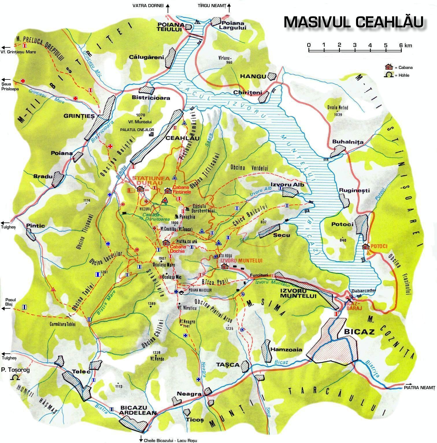 Harta Turistica A Muntilor Ceahlau Carpatii Orientali Profu