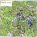 Harta turistica a muntilor Ciucas