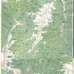 Harta turistica a Muntilor Grohotis