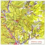 Harta Turistica a Muntilor Cozia (Carpatii Meridionali)