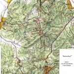 Harta Turistica a Muntilor Postavaru (Carpatii Orientali)
