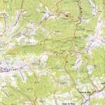 Harta turistica a muntilor Retezat 2