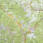Harta turistica a Muntilor Suhard 1