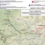 Harta turistica a muntilor Sureanu 1