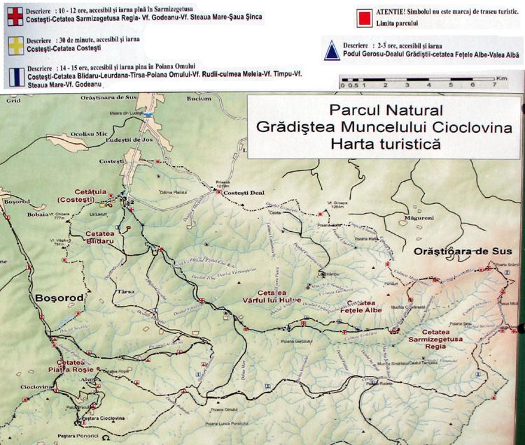Harta Turistica A Muntilor Sureanu Carpatii Meridionali Profu