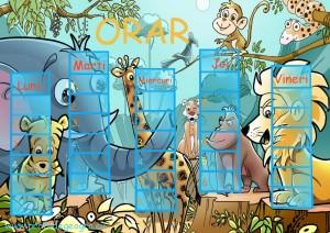 Orar scolar  Animalele Junglei