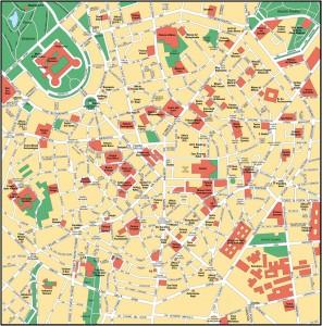 Harta Zona centrala Milano