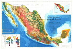 Harta geologica a Mexicului