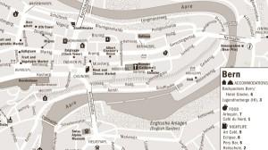 Harta orasului Berna