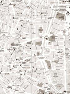 Harta orasului Madrid
