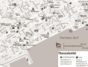 Harta orasului Salonic 2