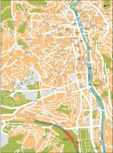 Harta orasului Sarajevo