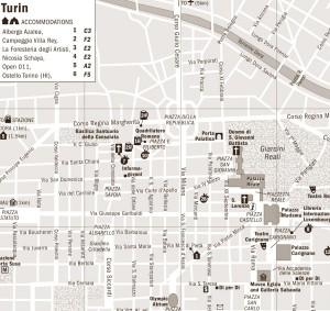 Harta orasului Torino