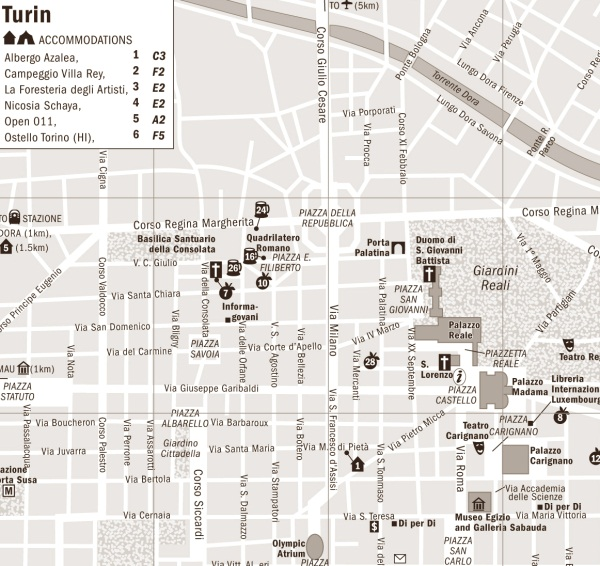 Harta Orasului Torino Profu De Geogra