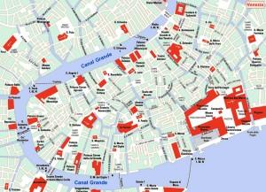 Harta turistica a Venetiei