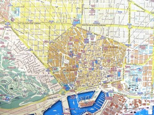 Harta turistica a Barcelonei