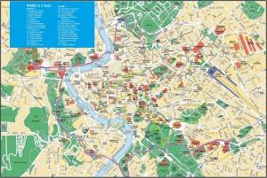 Harta turistica a Romei
