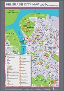 Harta turistica a orasului Belgrad