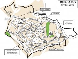 Harta turistica a orasului Bergamo(orasul de sus)