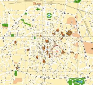 Harta turistica a orasului Bologna