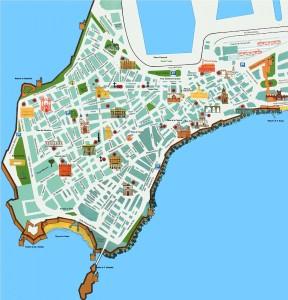 Harta turistica a orasului Cadiz