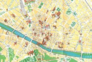 Harta turistica a orasului Florenta