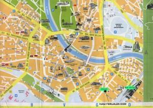 Harta turistica a orasului SKOPJE