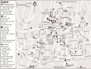 Harta turistica a orasului Zagreb 2