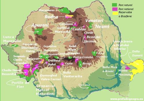 Arii Naturale Protejate din Romania
