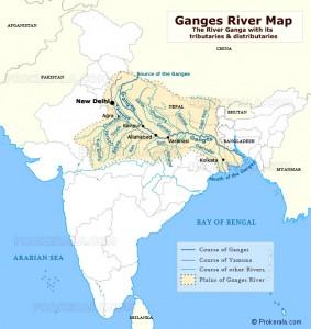 Harta Fluviului Gange