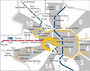 Harta metroului Bucuresti