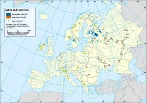 Harta muta a lacurilor din Europa