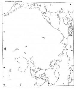 Harta oarba a Oceanului Pacific