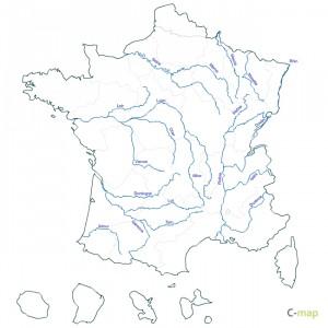 Harta raurilor din Franta