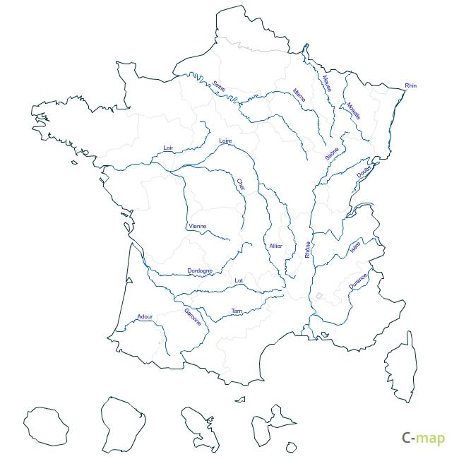 Harta Raurilor Din Franta Profu De Geogra