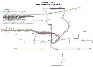 Reteaua de transport public  Bacau
