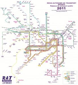 Harta de transport public Brasov
