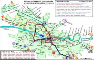 Reteaua de transport Oradea