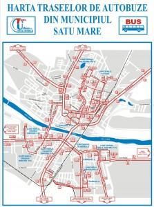 Reteaua de transport public Satu Mare