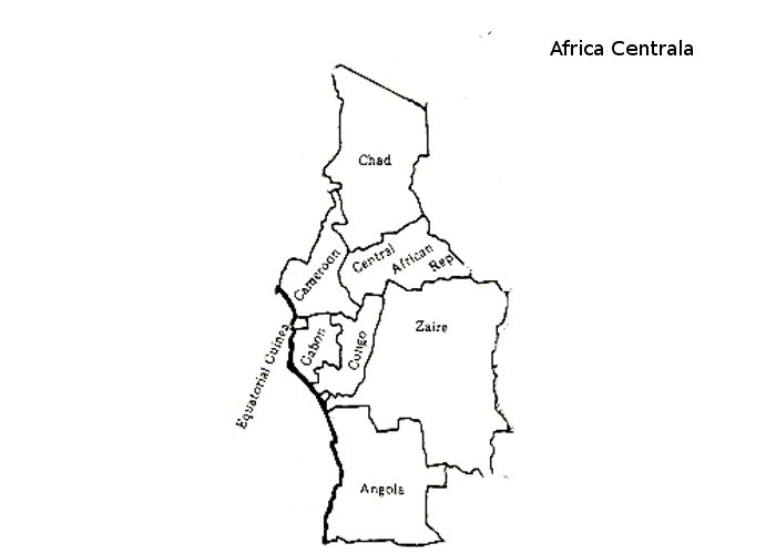 Harta Muta Africa Centrala Profu De Geogra