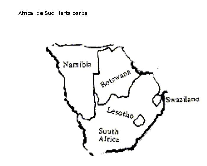 Harta Muta Africa De Sud Profu De Geogra