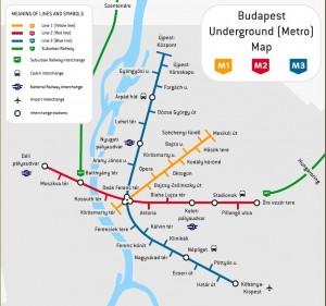 Harta metrou Budapesta